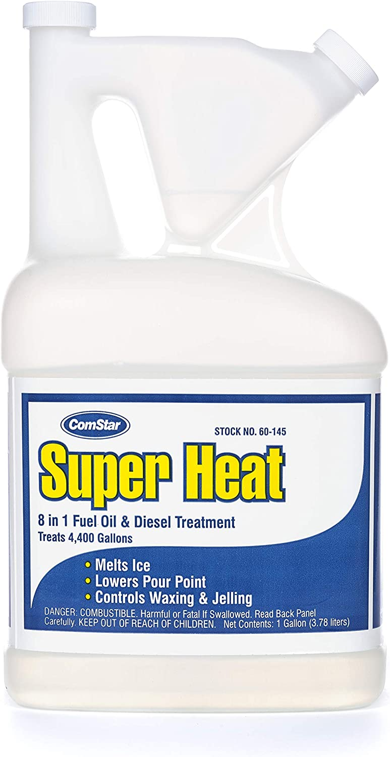 Comstar 60-145 Super Heat 8-in-1 Heating and Fuel Oil Treatment (Tip and Pour Bottle), 1 Gallon