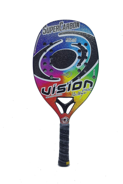 Vision Pala de Tenis Playa Super Carbon 2019: Amazon.es: Deportes ...