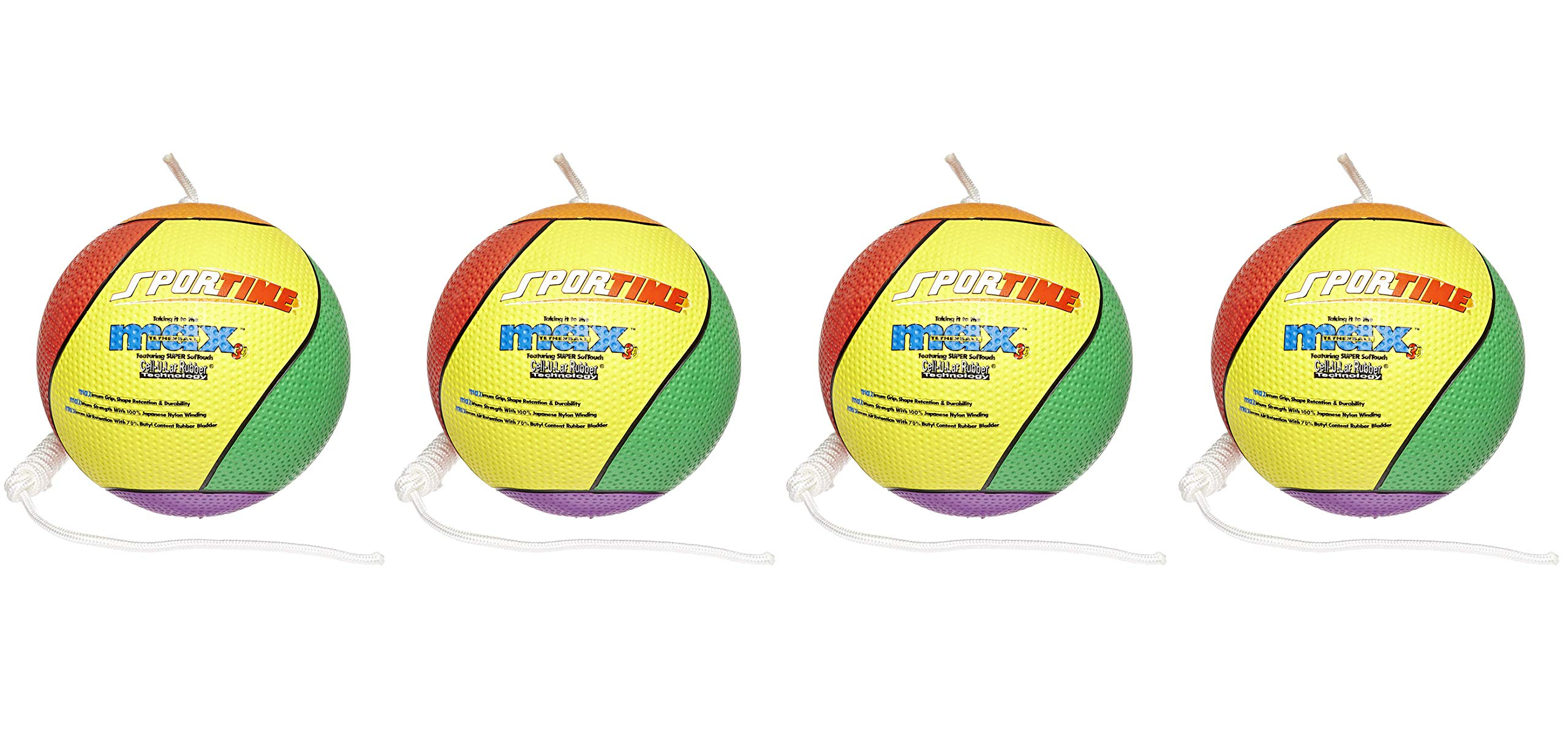 SportimeMax Tetherball, Multiple-Color (Fоur Paсk) by Sportime