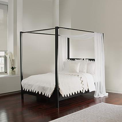 Amazon.com Royale Linens White Sheer Sizes Bed Canopy Scarf Home u0026 Kitchen & Amazon.com: Royale Linens White Sheer Sizes Bed Canopy Scarf: Home ...
