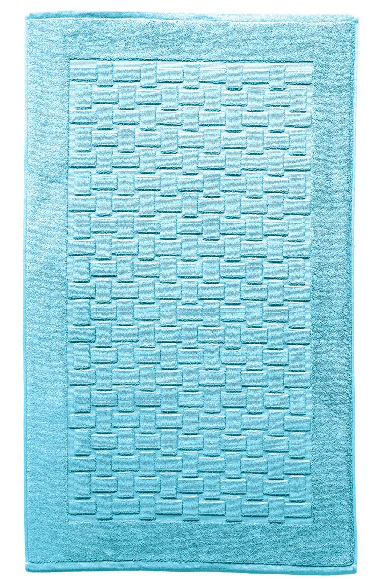 Casilin Ritz Tappeto di Bagno Cotone Pettinato Blu Lucida 60x 60cm Ourson