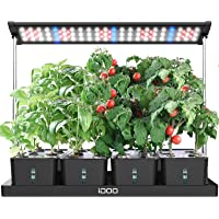 iDOO 20Pods Indoor Herb Garden, LED Grow Light for Indoor Herb Planter with Customize Timer, 4pcs Removable Water Tanks…