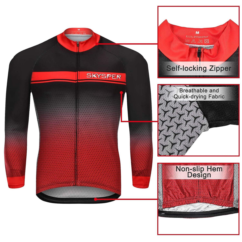 Amazon.com: SKYSPER - Maillot de ciclismo de manga larga ...