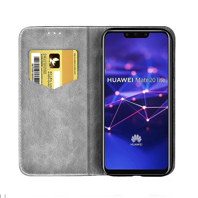 FNBK - Funda para Huawei Mate 20 Lite, de piel, tipo libro, fina ...