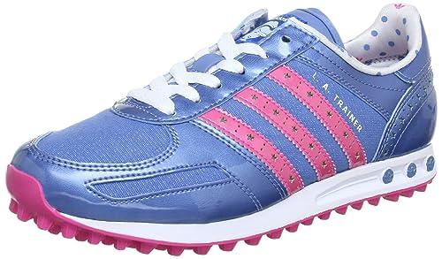 9097c10727998 adidas Originals Girls LA TRAINER DISNEY K Trainers Blue Blau (HALF BLUE  S12 ULTRA