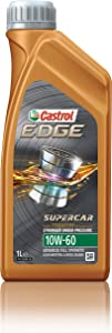 Castrol - 12064-12PK EDGE SUPERCAR 10W-60 Advanced Full Synthetic Motor Oil, 1 L, 12 pack, Gold
