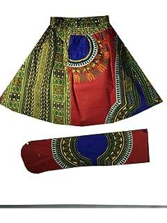 75d1d8805b1 Decoraapparel Girls African Wax Skirt Ankara Print Vintage Kid Sizes 3T to  5T One Size