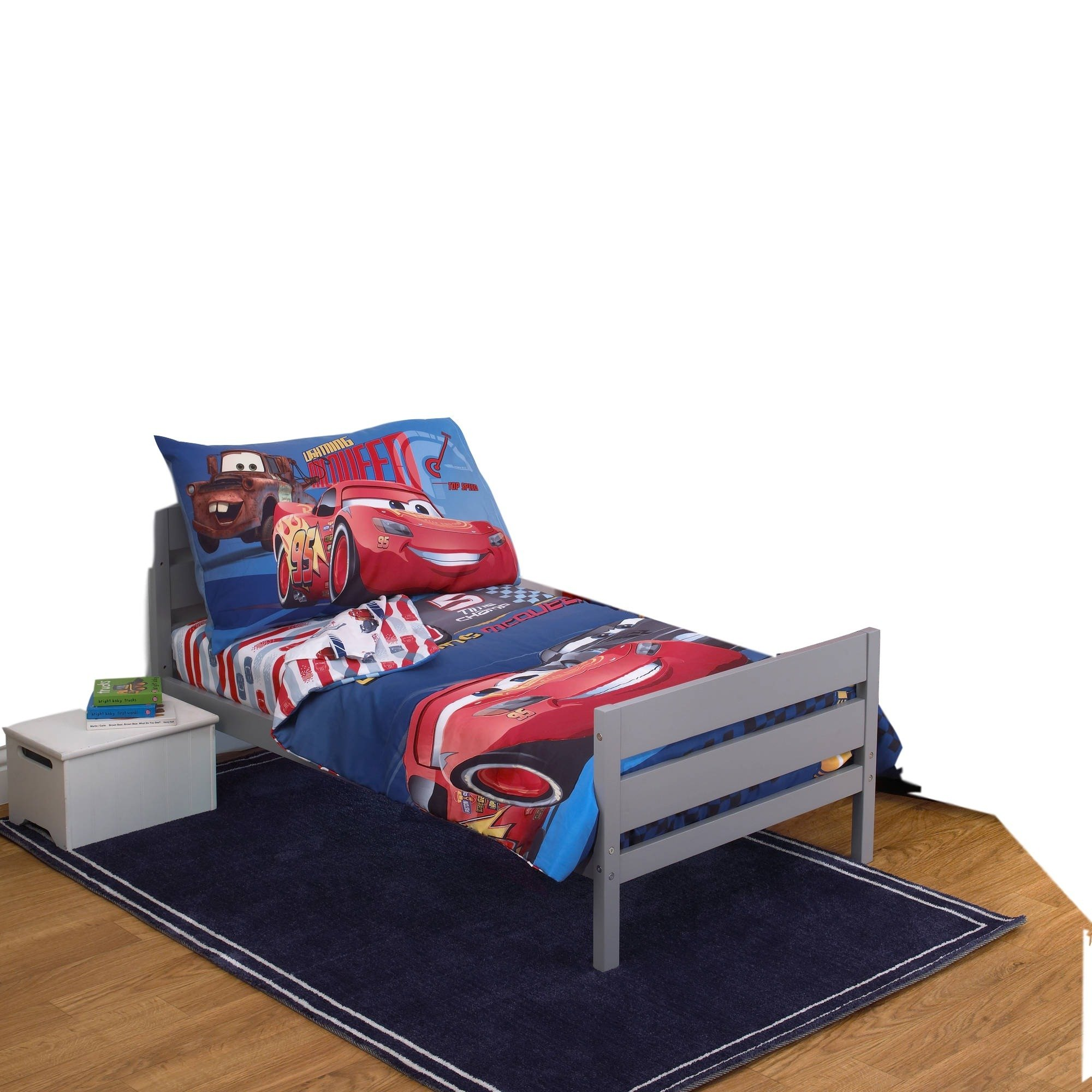Disney Cars 3 Fast Not Last 4 Piece Toddler Bed Set McQueen Jackson Storm 20 by Disney