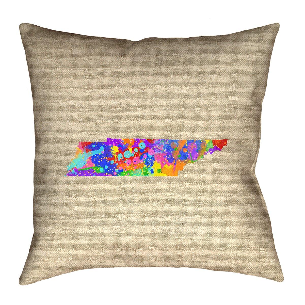 ArtVerse Katelyn Smith 14 x 14 Spun Polyester Tennessee Watercolor Pillow