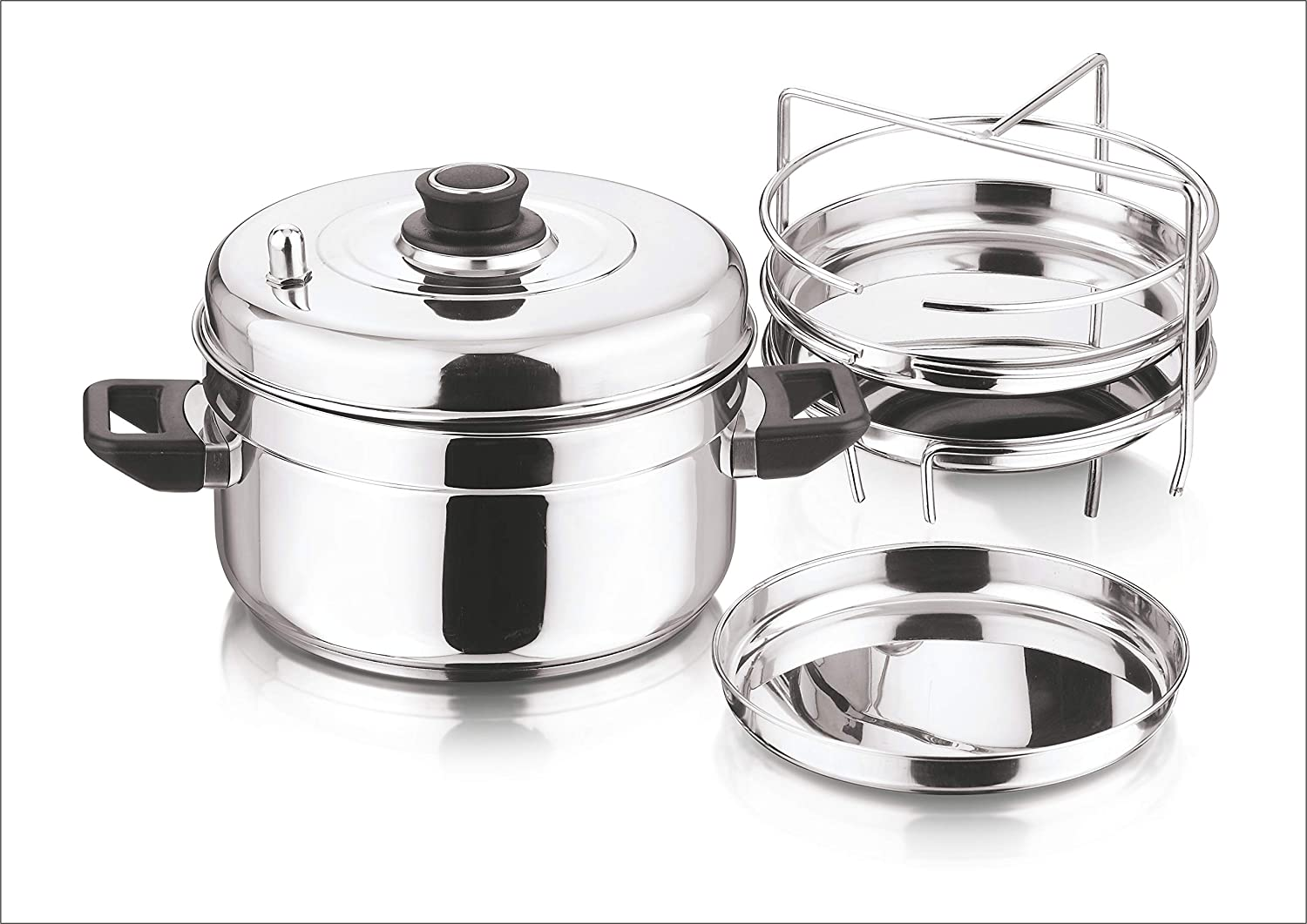 Vinod Stainless Steel Dhokla Cooker (3-Rack)