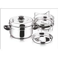 Vinod Stainless Steel Dhokla Cooker (3-Rack)