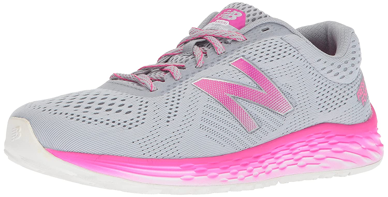 New Balance Women's Fresh Foam Arishi V1 Running Shoe B06XS8W31N 5 B(M) US|Silver/Pink