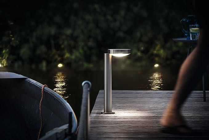 B-Kartonage Außenleuchte Philips Cockatoo LED Sockelleuchte Edelstahl Gartenlamp