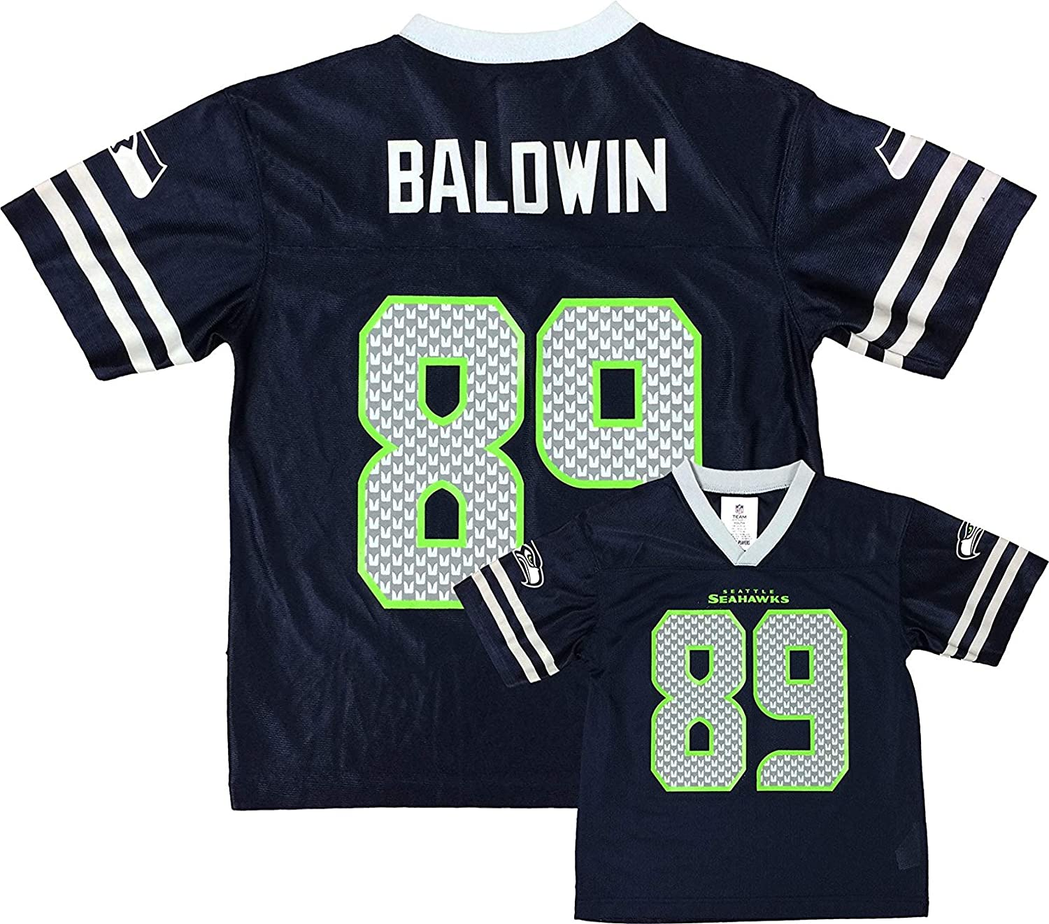premium selection ef92b 9cf27 Amazon.com: Doug Baldwin Seattle Seahawks Navy Blue Home ...