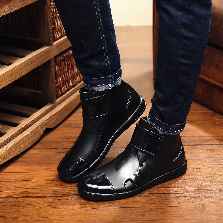 ukStore Men's Ankle Wellington Boots Winter Waterproof Snow Rain Boots:  Amazon.co.uk: Shoes & Bags