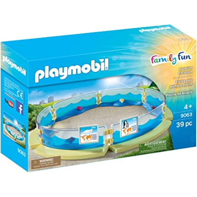 PLAYMOBIL Aquarium Enclosure Building Sete: Toys & Games