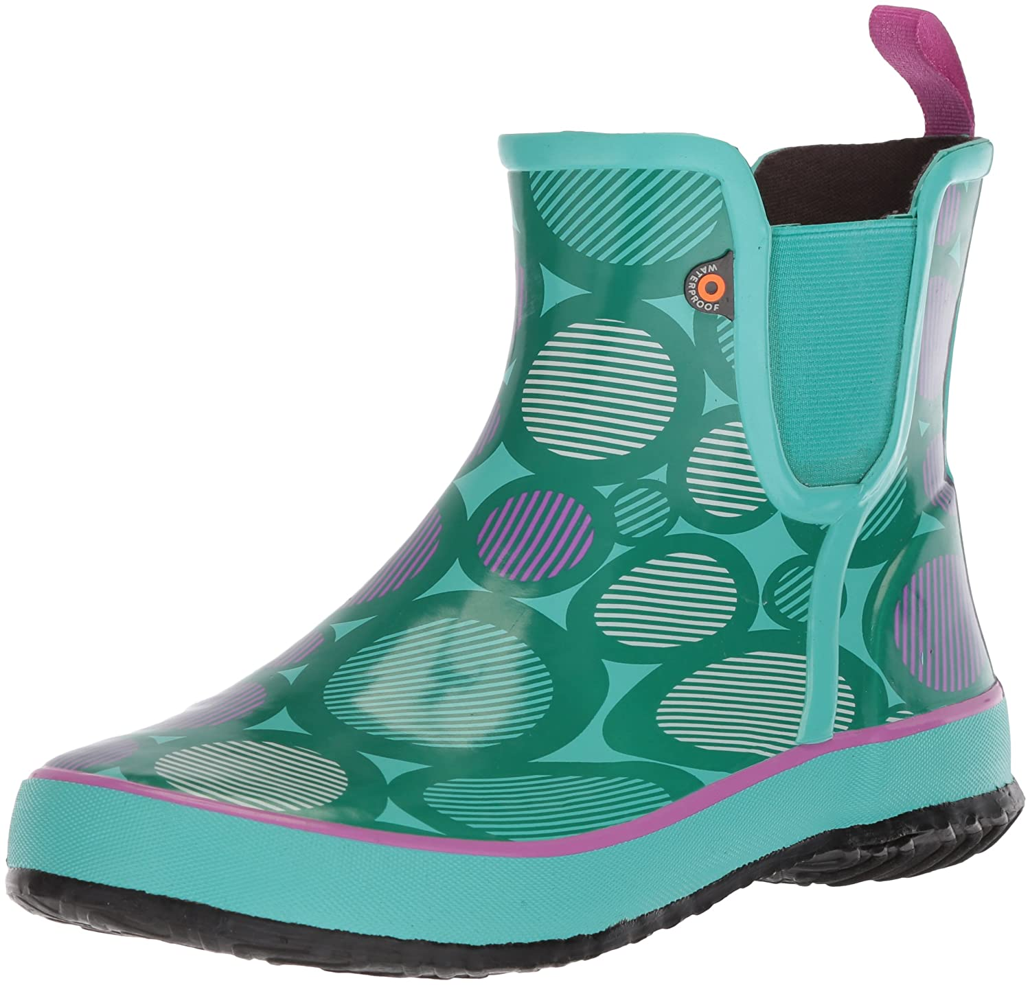 Bogs Kids' Amanda Slip ON Multi DOT Rain Boot 72215K-062-8