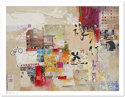 Fine Art Giclee Print Travel On Textured Watercolor Art Paper 300g M Amazon Co Uk Handmade