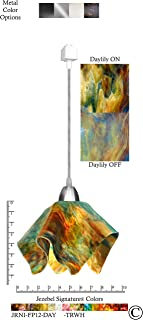 product image for Jezebel Signature JRNI-FP12-DAY-TRNI Nickel Flame Track Light, Small, Daylily