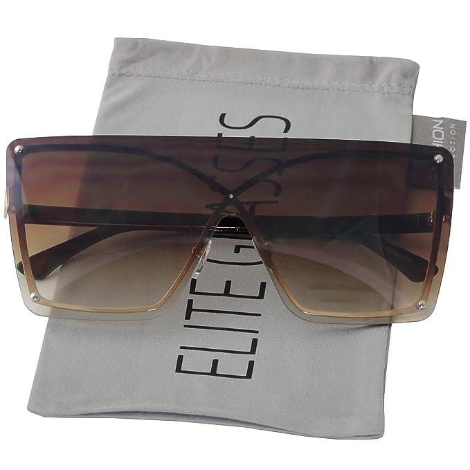 Amazon.com: Gafas de sol para mujer de gran tamaño con ...