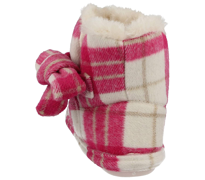 Pantuflas botines Pitlochry de Jo & Joe, para mujer en tela tartán con forro polar, con lazo, tallas 36-41, color Rosa, talla 37 1/3: Amazon.es: Zapatos y ...