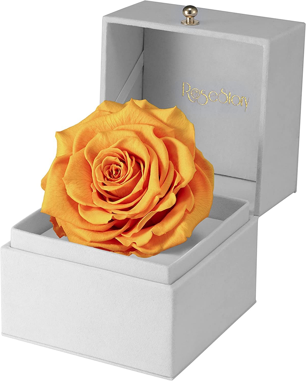 STANDING YELLOW ROSE ORNAMENT GIFT FLOWER NEW BOXED