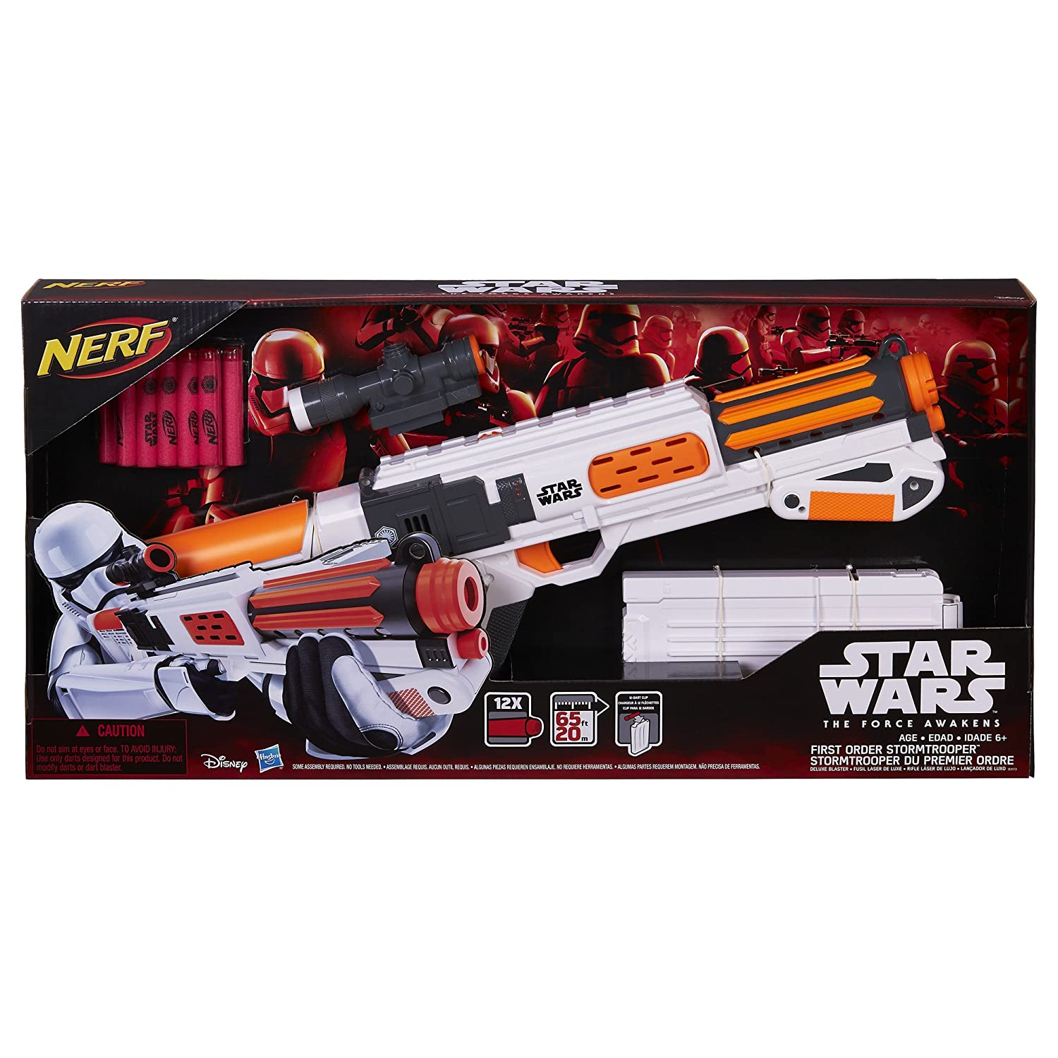 Amazon Star Wars Nerf Episode VII First Order Stormtrooper Deluxe Blaster Hasbro Toys & Games