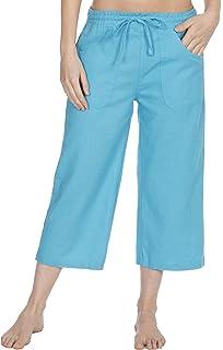 51167c28883444 Causeway Bay Linen Capri Pants Womens Cropped Trousers 3/4 Holiday ...