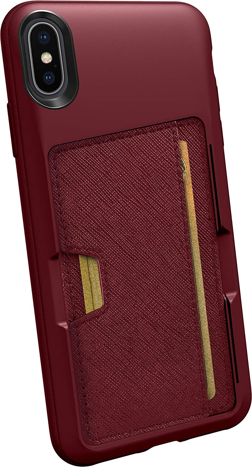 Smartish iPhone Xs Max Wallet Case - Wallet Slayer Vol. 2 [Slim Protective Kickstand] Credit Card Holder for Apple iPhone 10S Max (Silk) - Red Rover Red Rover