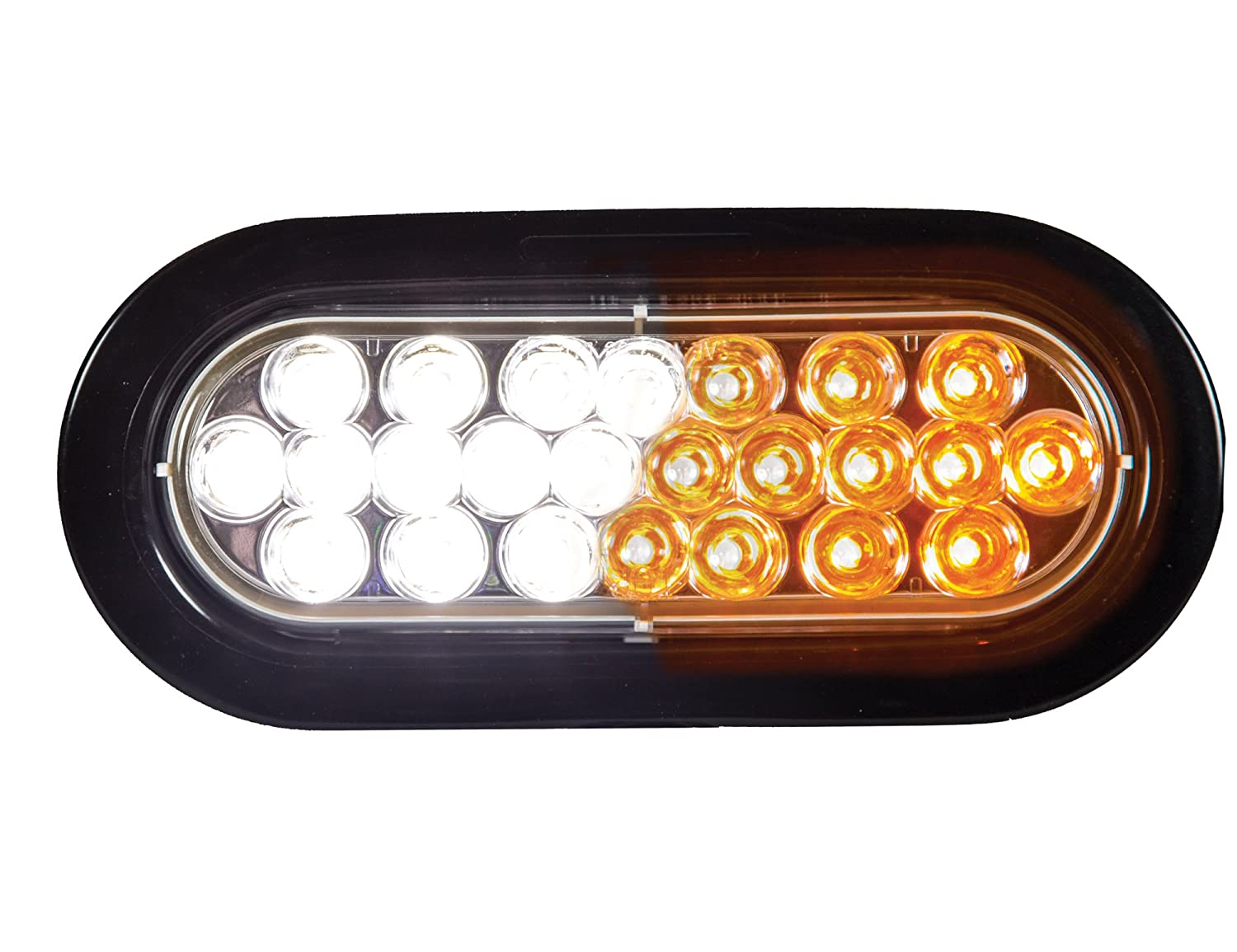 Amber SL66AO Buyers Products 6 Oval LED Recessed Strobe Light