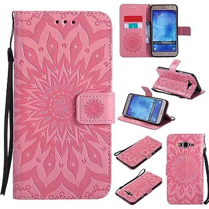 brand new a8187 556cb NOMO Galaxy J7 Case, Samsung J7 Wallet Case,Galaxy J7 Flip Case PU Leather  Emboss Mandala SUN Flower Folio Magnetic Kickstand Cover with Card Slots ...