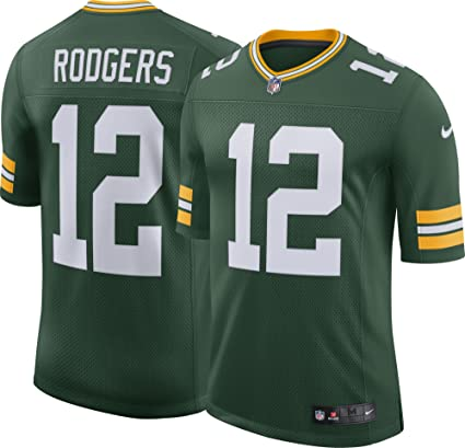 uk availability 05220 1bcf5 Amazon.com : NIKE Mens Green Bay Packers Aaron Rodgers ...