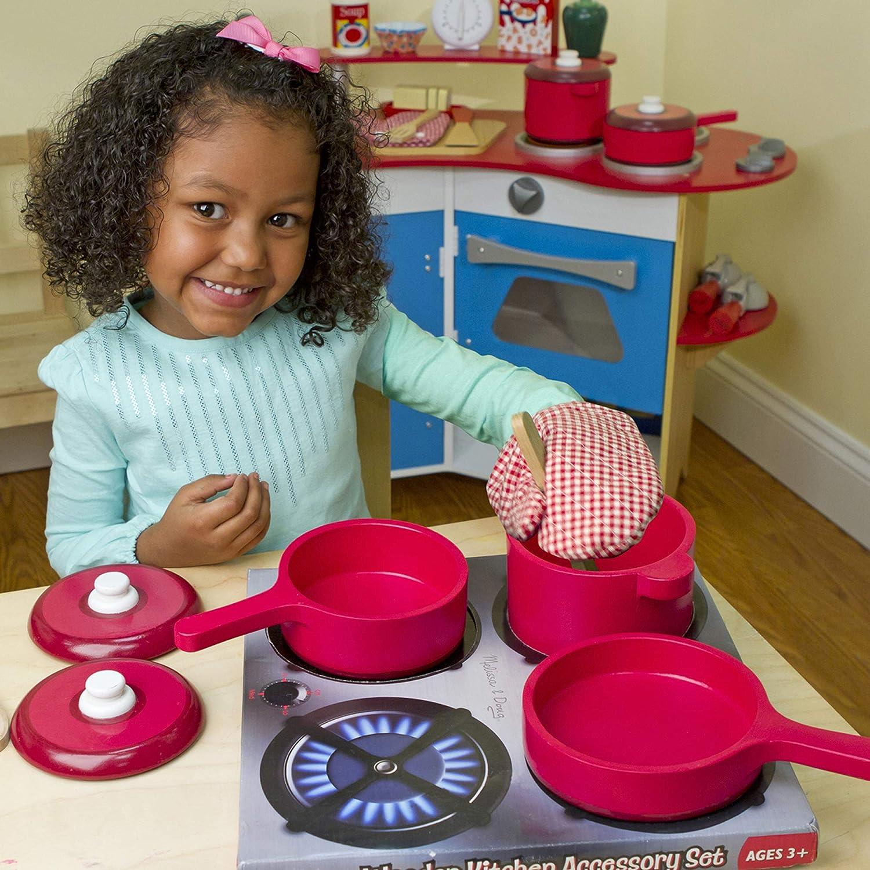amazon com melissa doug deluxe wooden kitchen accessory set rh amazon com