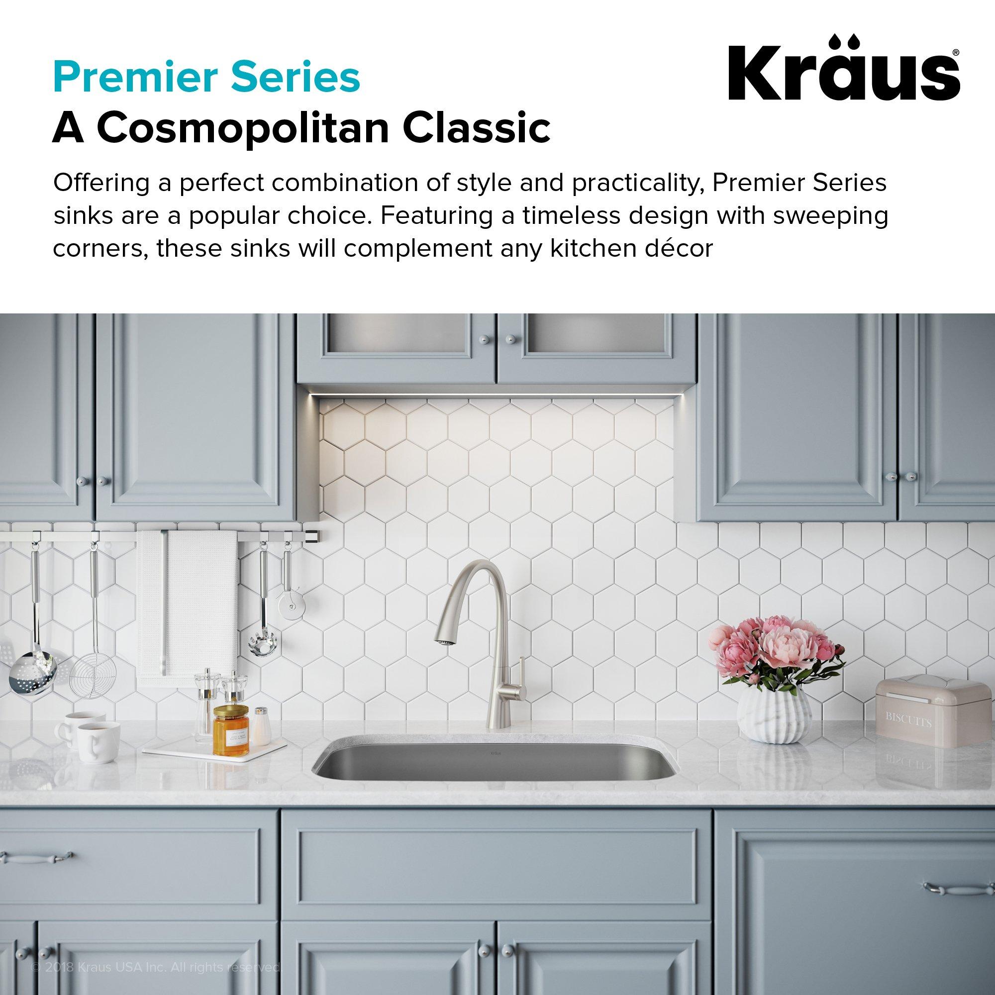 Kraus KBU14 31-1/2 inch Undermount Single Bowl 16-gauge Stainless Steel Kitchen Sink by Kraus (Image #4)