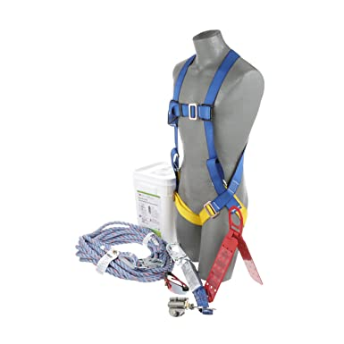 Peakworks V8257275 Fall Protection Universal Size Harness Contractor//Industrial Roofer/' s Kit RK6-50 50 ft Contractor//Industrial Roofers Kit