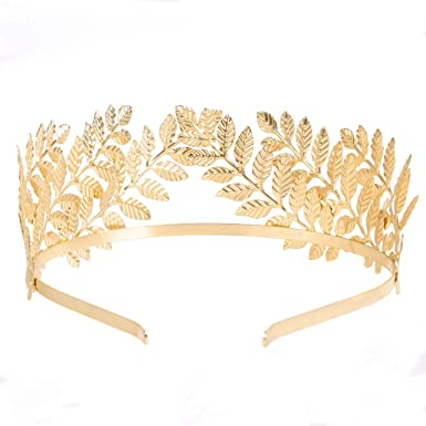 Silver Embellished Hair Band Headdress Grecian Laurel Bridal Hijab Accessories