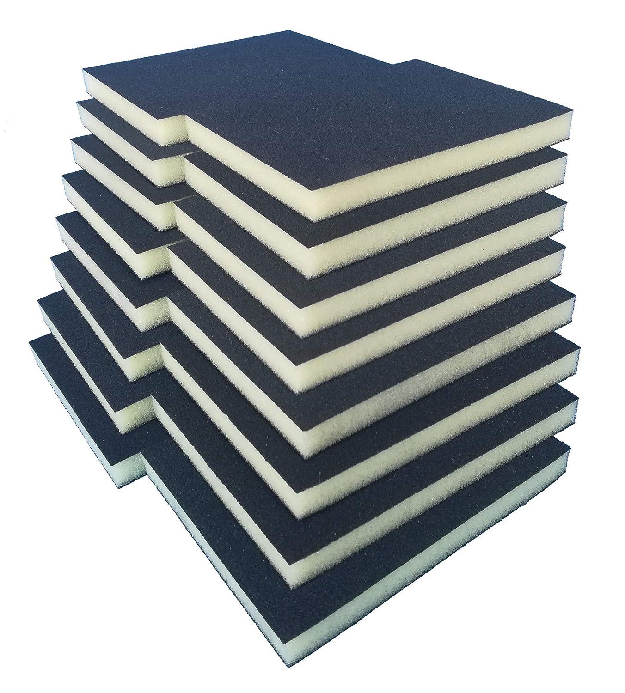 Handschleifer f/ür verschiedene Materialien geeignet I weiches anpassungsf/ähiges Schleifmittel Schleifblock Schleifklotz Schleifschwamm Schleifmatte I K/örnung K220 16er Set FEIN I DIY