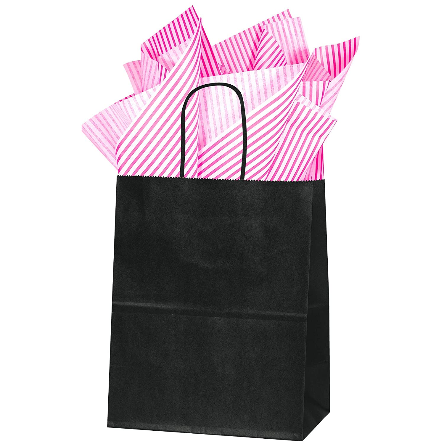 50 Sheets Color Count Flexicore Packaging Hot Pink Pin Stripe Print Gift Wrap Tissue Paper Size Hot Pink Pin Stripe 15 Inch X 20 Inch