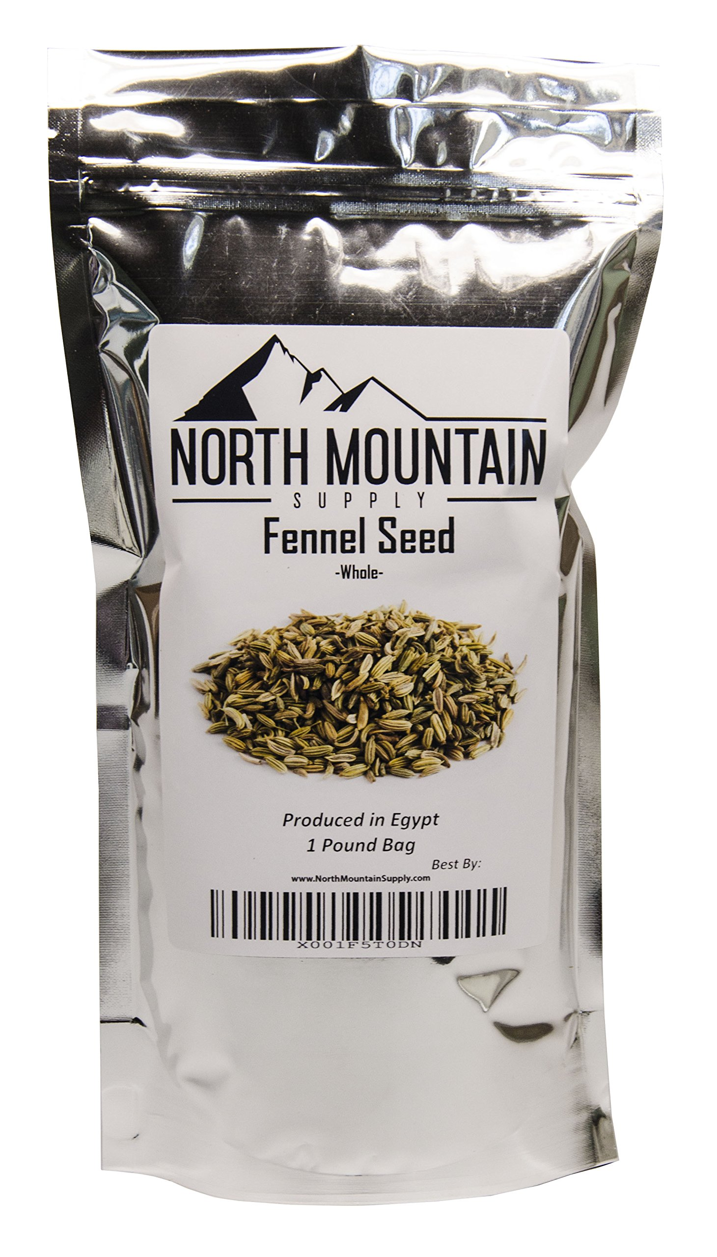 North Mountain Supply Bulk Whole Fennel Seed - 1 Pound Bag