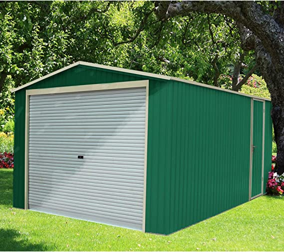 Garaje Metálico Gardiun Leicester 17, 34 m² Ext: Amazon.es: Jardín