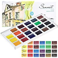 Sonnet Watercolour Paint Set - 24 Whole Pans - for Professionals, Beginners and Enthusiasts by Nevskaya Palitra from…