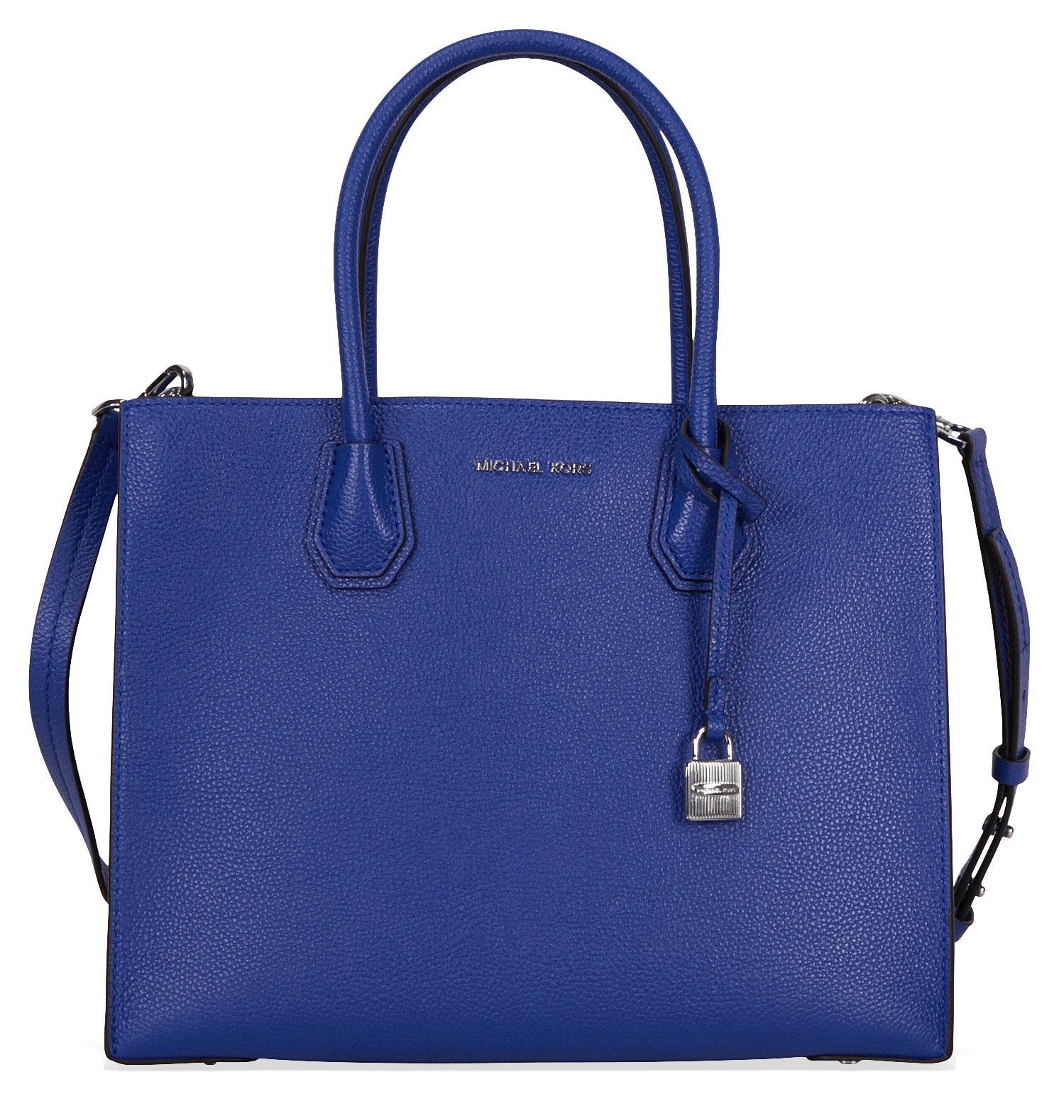 Michael Kors Mercer Large Bonded Leather Tote - Electric Blue