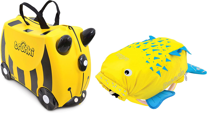 TRUNKI juego de maleta y mochila, amarillo (Amarillo) - 0258-GB01