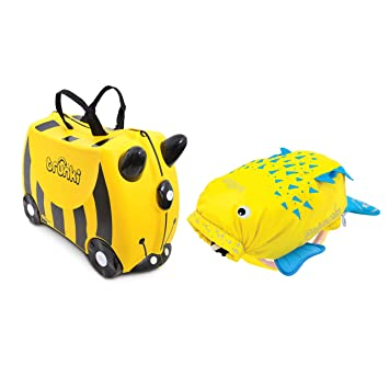 Trunki Original Kids Ride-On Suitcase and Carry-On Luggage with PaddlePak Water-