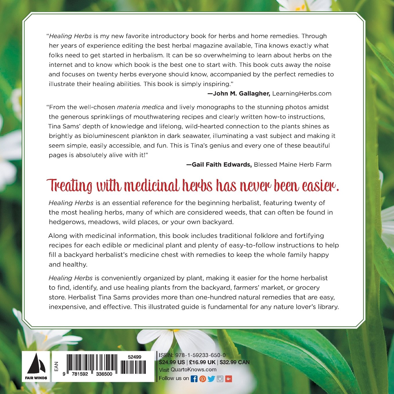 Healing Herbs A Beginners Guide To Identifying Foraging And Using Medicinal Plants More Than 100 Remedies From 20 Of The Most Tina