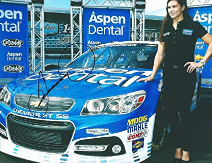 AUTOGRAPHED 2015 Danica Patrick #10 Aspen Dental Racing (Stewart-Haas)  Promotional Shoot 9X11 Signed Picture NASCAR Photo Glossy with COA