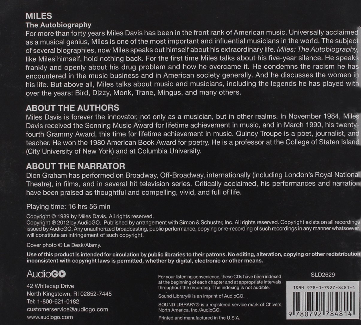 Miles: The Autobiography: Miles Davis, Dion Graham, Quincy Troupe:  9780792784814: Amazon: Books
