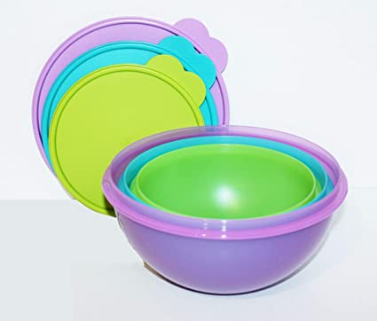 Amazoncom New Tupperware Wonderlier Bowl Set 3 In New Colors