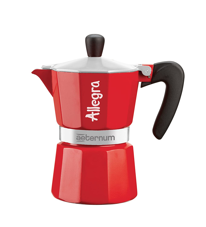 Aeternum Allegra Coffee Maker Aluminium Red, 3 cup Bialetti 6014