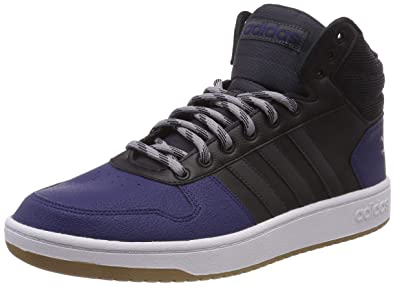 timeless design acd13 607fb adidas Herren Hoops 2.0 Mid Gymnastikschuhe Schwarz (Core BlackCarbon  S18Light Granite